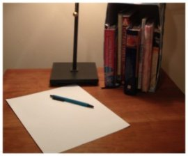 writing desk with pen and paper for mindfulness writing